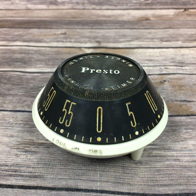 1950s Presto Minute-Timer Kitchen Timer Spaceship Design Model PF01A Works