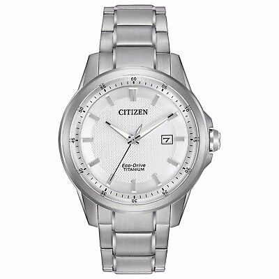 Citizen Eco-Drive Men's Super Titanium White Dial Bracelet Watch 42mm AW1490-50A