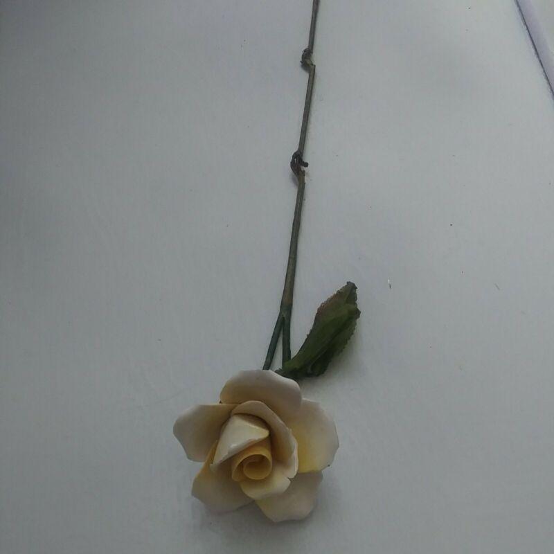 Ceramic Yellow Rose