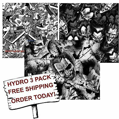 Hydrographic Film Water Transfer Printing Film Hydro Dip The Joker 3 Pack