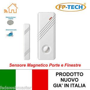 Sensore magnetico porte e finestre wireless per antifurto casa ufficio wifi ebay - Antifurto porte e finestre ...