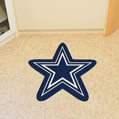 Dallas Cowboys NFL Mascot Shaped Area Rug Mat Great for the Man Cave Door