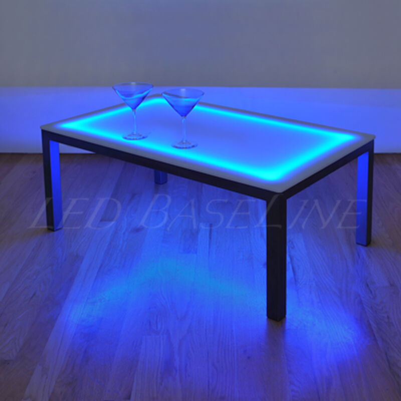 """16"""" Lighted BAR COFFEE TABLE MODERN COLOR CHANGING"""