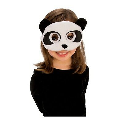 Boys Girls Plush Soft Animal Baby Kung Fu Panda Bear Halloween Costume Eye Mask