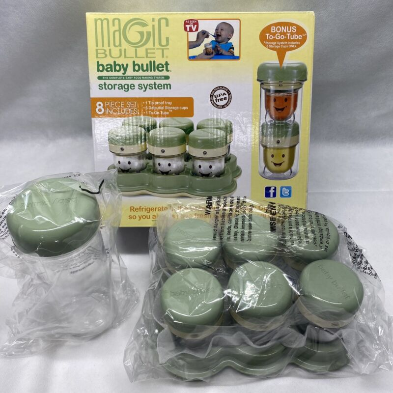 Magic Bullet Baby Bullet Storage System, New Open Box Sealed Contents