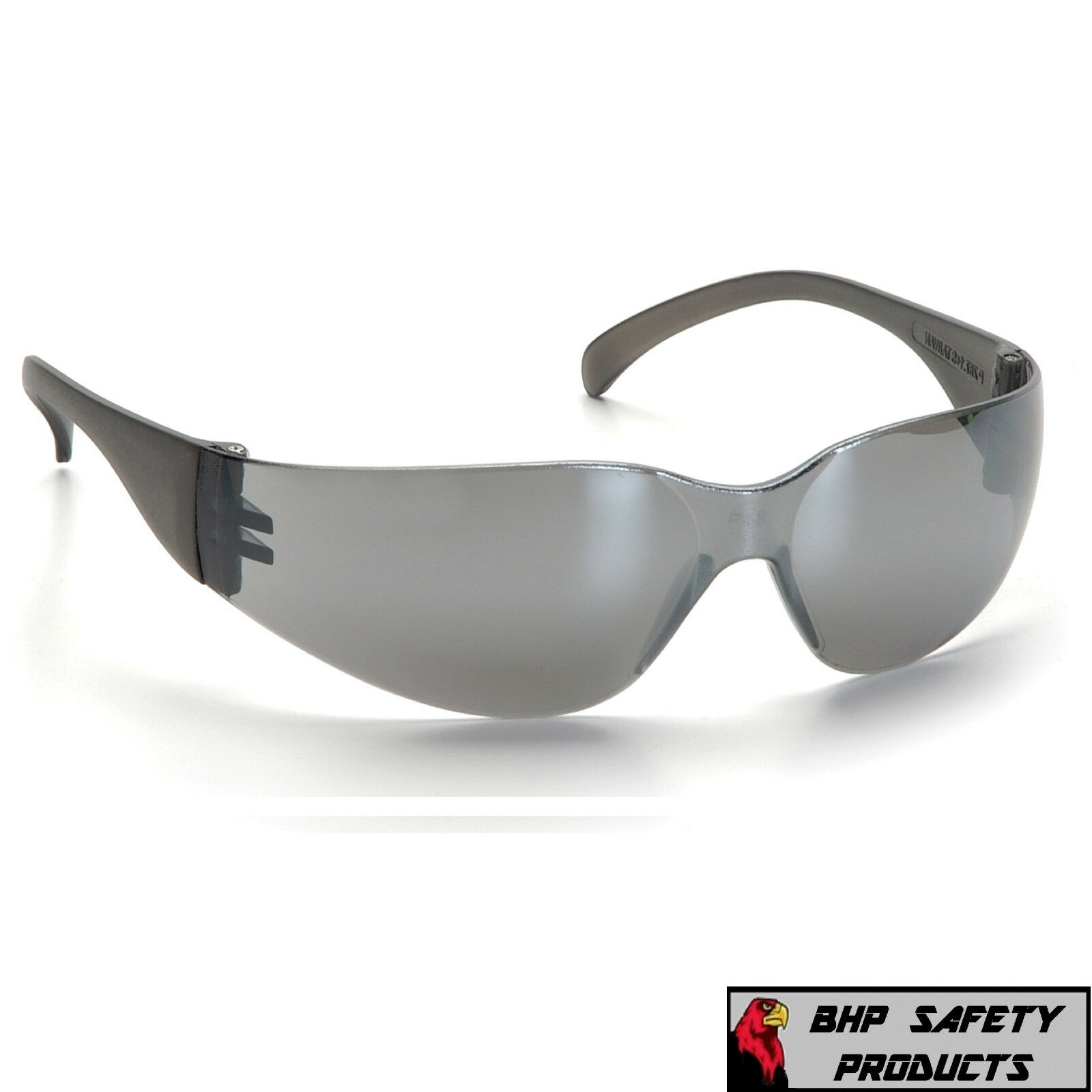PYRAMEX INTRUDER SAFETY GLASSES ANSI Z87+ WORK EYEWEAR - LIGHTWEIGHT, SUNGLASSES Silver Mirror S4170S