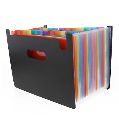Upgrated 24 Pockets Expanding File Folder Accordion A4 Document Organizer