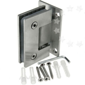shower door hinge wall mount hinge 8 12mm bracket frameless wall to glass - Glass Shower Door Hardware