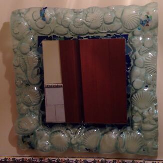 Glass framed mirror Stirling Adelaide Hills Preview