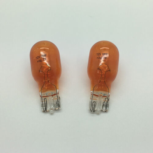 2 x 921BA Amber W16W Wedge Rear Indicator Car Light Bulb 955 12v 16w 35m