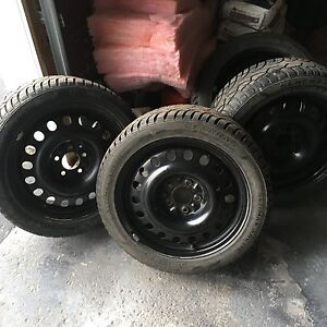 205/50/17 excellent winter tires on rims