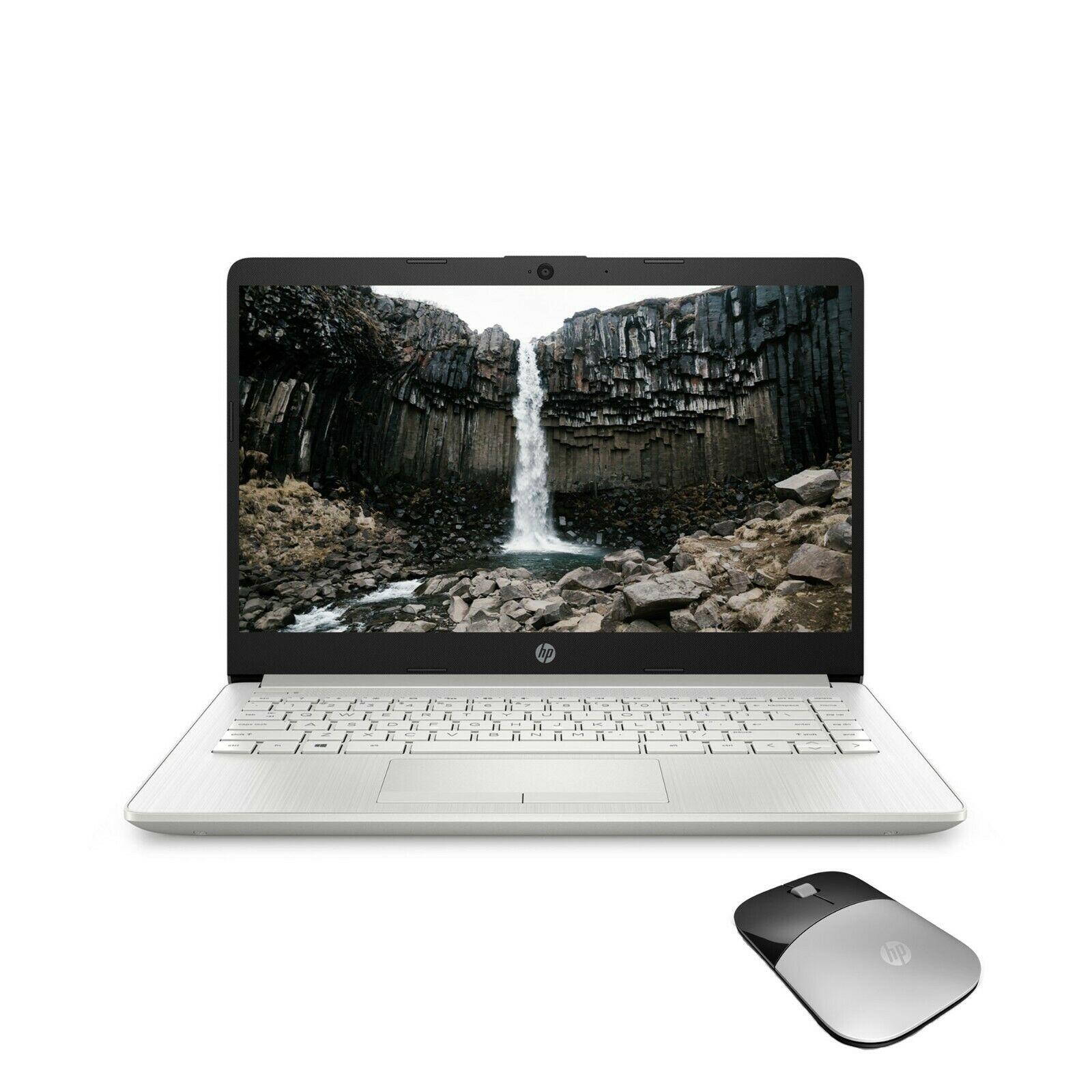 """NEW HP Laptop 14"""" HD Intel Pentium Silver 128GB SSD 4GB RAM Win 10 with Mouse"""