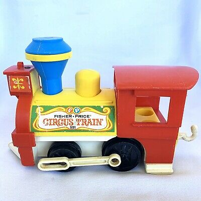 Vintage Little People Fisher Price Circus Train 991 Engine Only