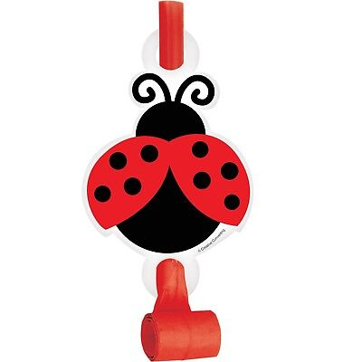 Ladybug Fancy Party Blowers, 24 Count - Red Party Blowers
