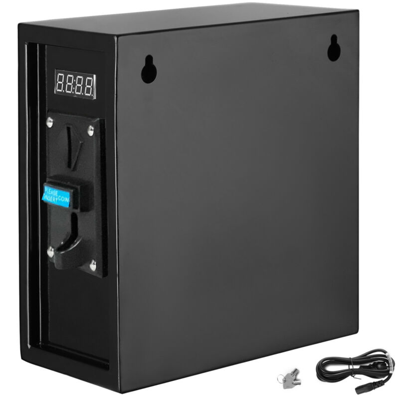 VEVOR 110v Coin Operated Timer Control Power Supply Box Control Automatic Black