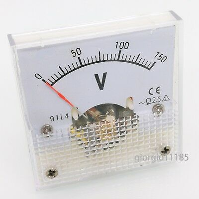 Us Stock Ac 0150v Square Analog Volt Pointer Needle Panel Meter Voltmeter 91l4