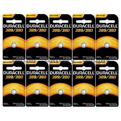 20 389/390 Duracell Silver Oxide Batteries (ag10, 189, Lr...