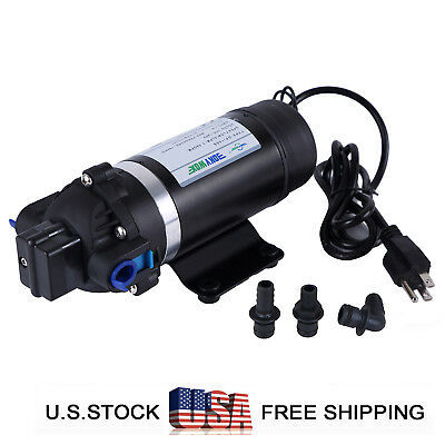 110-120v Self-priming Diaphragm Water Pump 160psi High Pressure Water Pump Boat