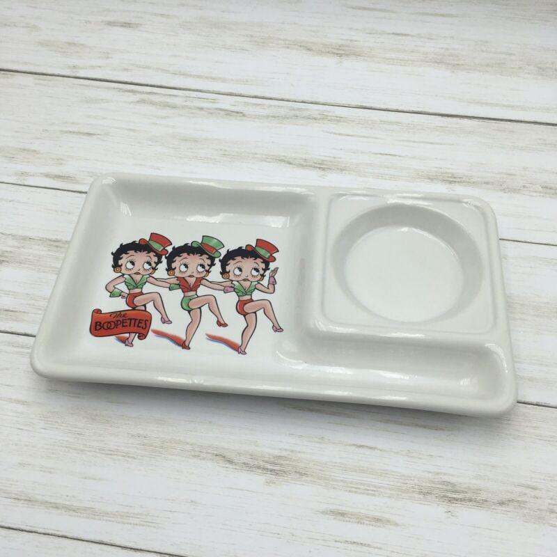 Vintage 1984 Vandor Betty Boop Ceramic Tray The Boopettes