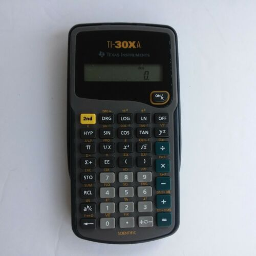 Texas Instruments TI-30XA MultiView Scientific Calculator Used Manual And Case