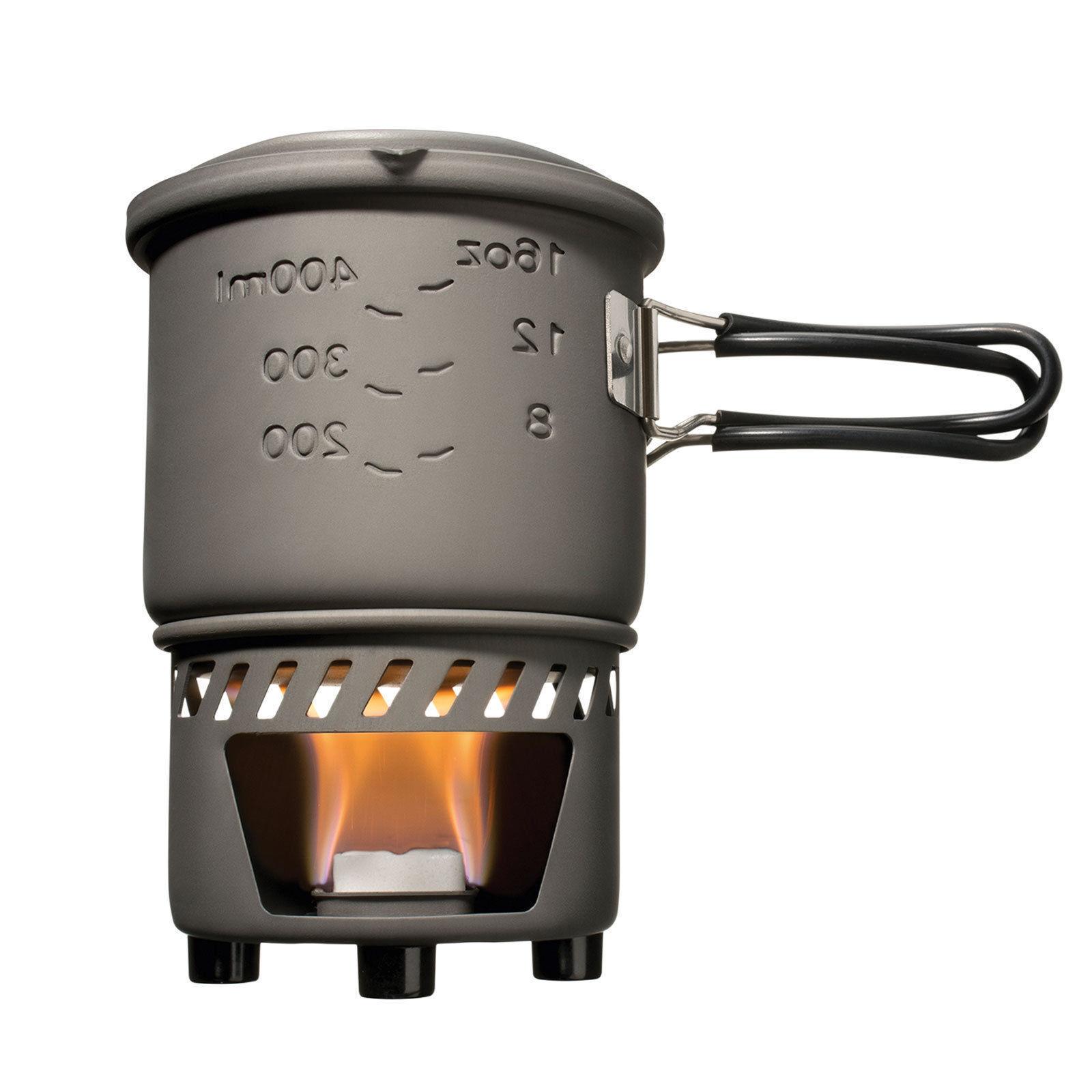 ESBIT Trockenbrennstoff Kochset Mini Campingkocher Trekking Outdoor Kocher Set