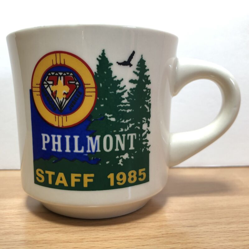 Vintage 1985 STAFF Philmont Scout Ranch Boy Scouts of America Coffee Mug Cup