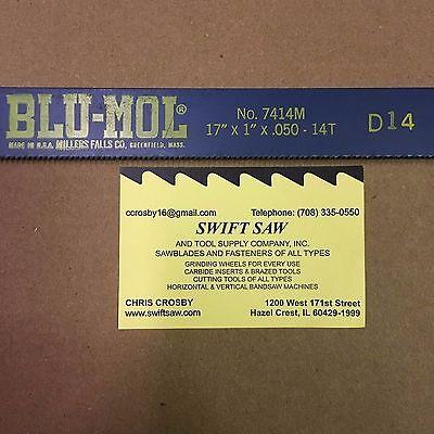 10pcs- 17 X 1 X .050 X 14t Power Hack Saw Blade Blu-mol Millers Falls Bi-metal