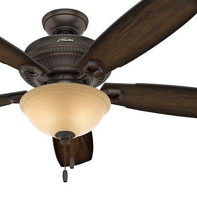 Hunter Fan 52 in. Traditional Ceiling Fan with LED Bowl Light Kit in Onyx Bengal Ceiling Fan Bowl Kit