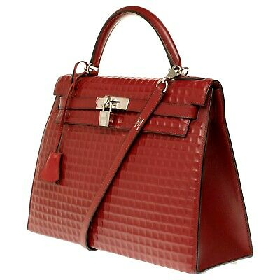 Superb & Rare Hermès, Hermes  Kelly 32cm Women's Bag Limited Edition Red