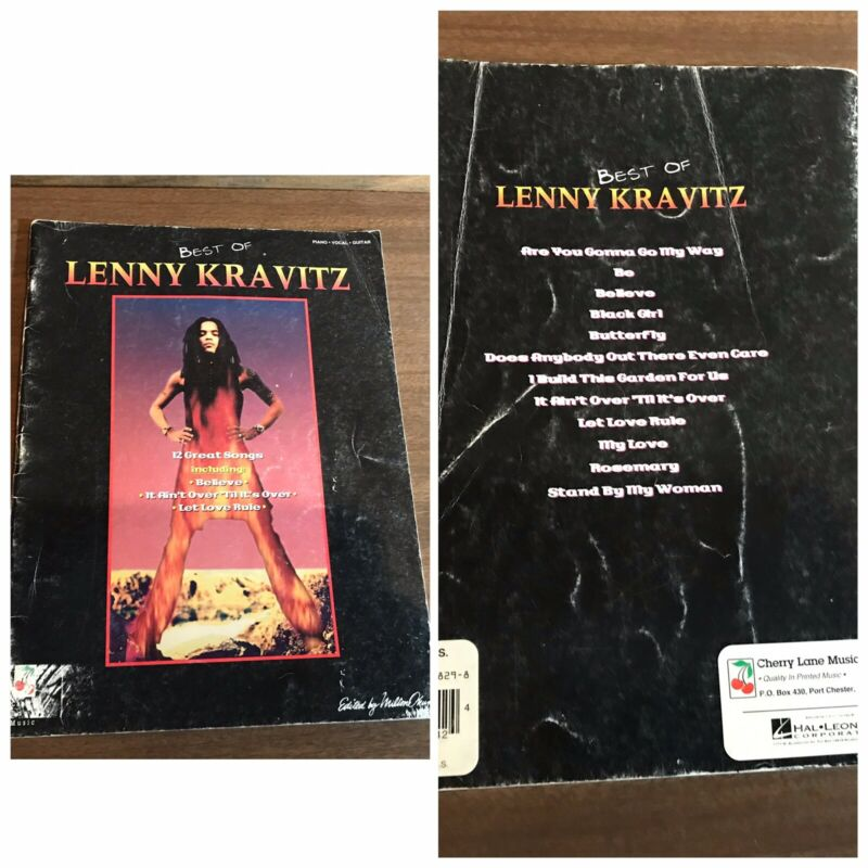 Lenny Kravitz Best Of 1994 Somgbook book 12 Song Piano Vocal Guitar Vintage