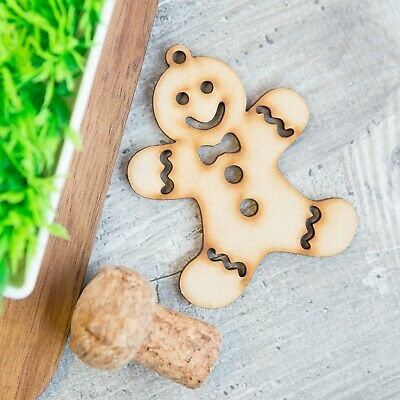 Wooden  Gingerbread Man Laser Cut Craft Blanks Shapes Art crafts Christmas Tree - Gingerbread Craft