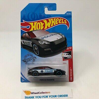 Porsche Panamera #100 * Black * 2019 Hot Wheels Case P * HG28