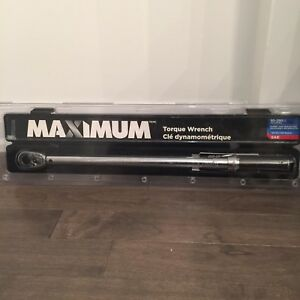 "MAXIMUM 1/2"" Drive Torque Wrench  - brand new"
