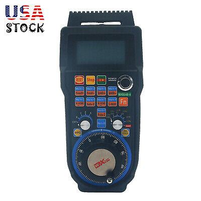 CNC MACH3 Wireless Electronic Handwheel 4-Axis Manual Controller 433MHZ MPG USA