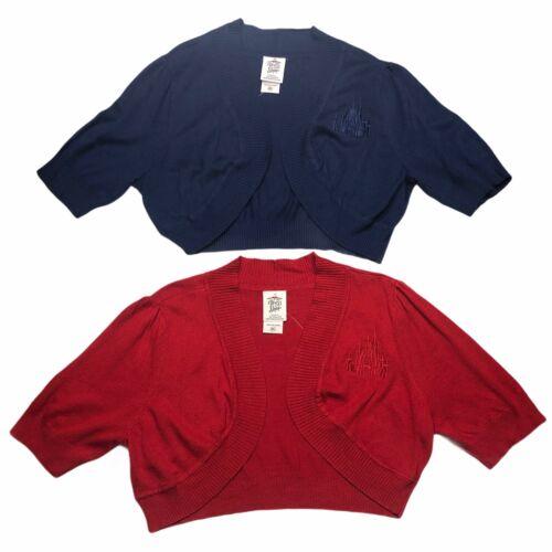 Disney Parks Dress Shop Castle Cardigan Fantasyland Shrug Sweater Red Blue L, XL