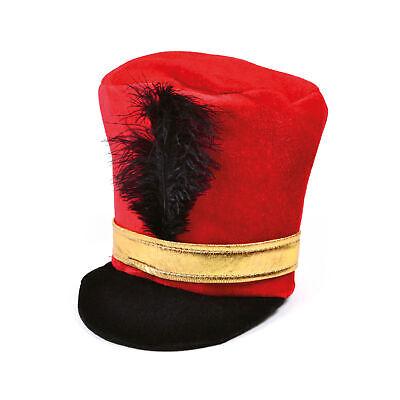 Rot Soldat Militär Hut mit Feder Kostüm Spielzeug Erwachsene Majorette - Spielzeug Soldat Kostüm Hut
