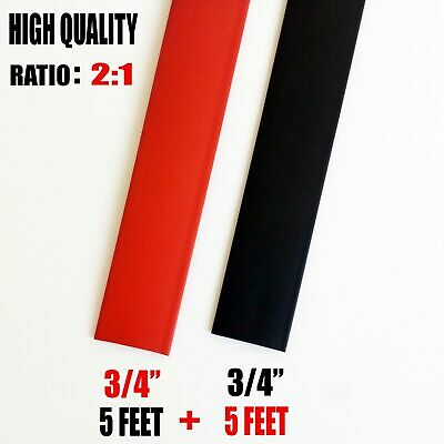 10 Feet 10 Black Red 34 34 Inch Polyolefin 21 Heat Shrink Tubing