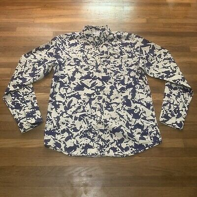 NEW Norse Projects Anton Broken Leaf Shirt Button Up Size Medium