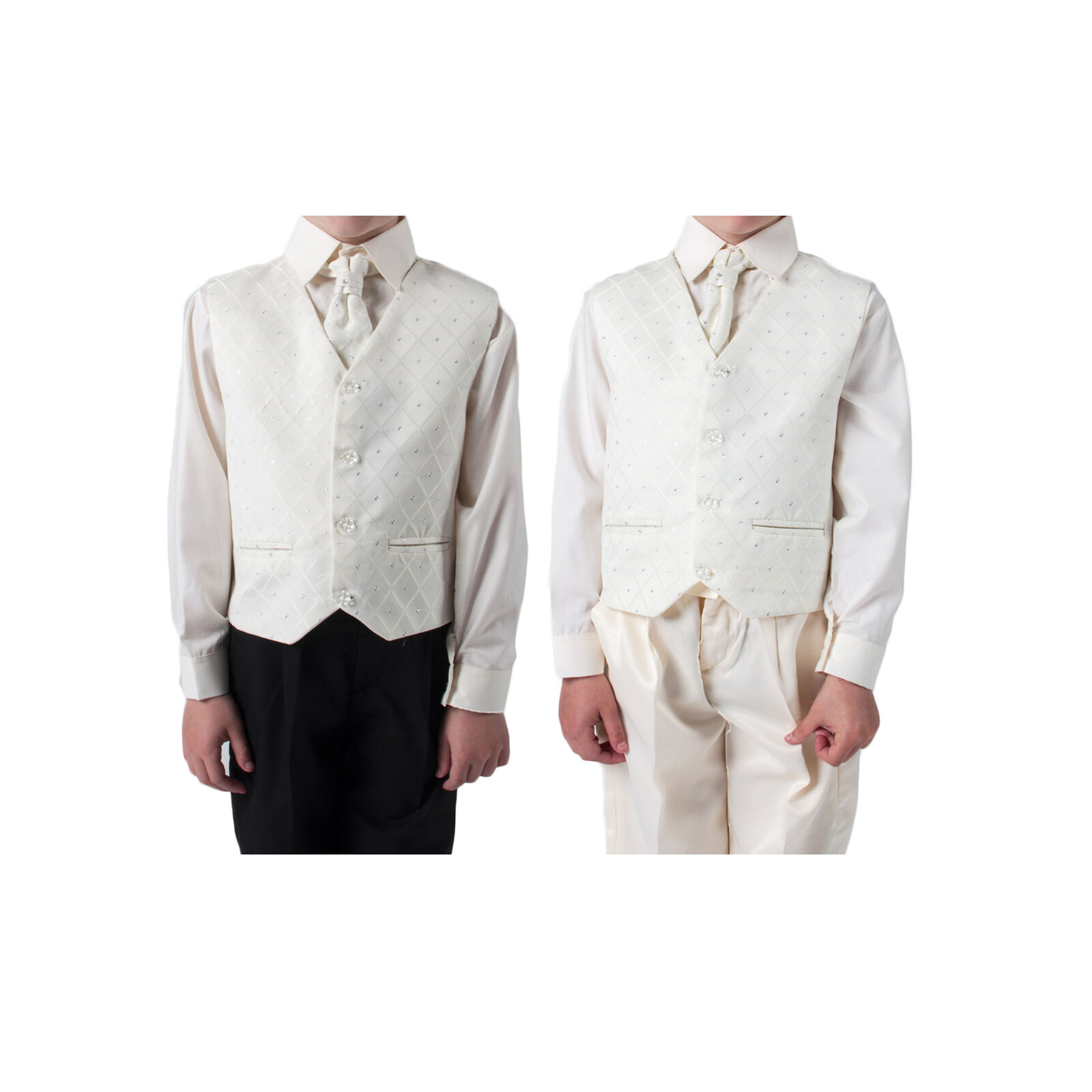Boys Suits Cream 4 Piece Waistcoat Suit Wedding Pageboy Christening Outfit