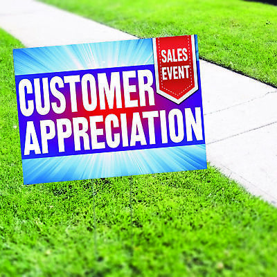 Customer Appreciation Sales Event Plastic Indoor Outdoor Coroplast Yard Sign