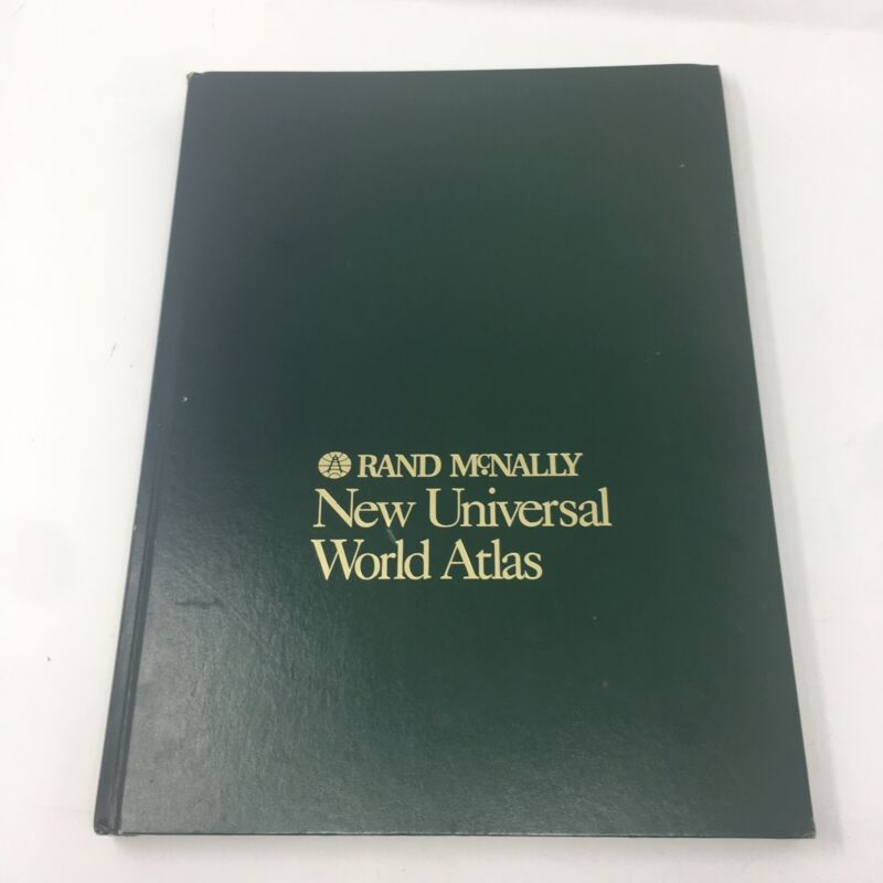 1995 Vintage Rand McNally New Universal World Atlas Classic Hardcover Geography