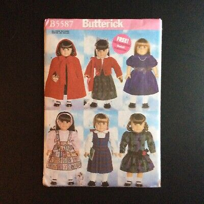 Butterick B5587 Sewing Pattern 18 inch Doll Clothes fits American Girl Uncut