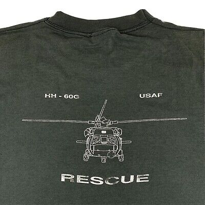 VTG 90s Air Force  HH-60G Rescue Helicopter Shirt Mens XL X-Large Single Stitch  Hh 60g Helicopter