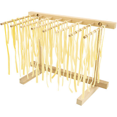 Collapsible Wooden Pasta Drying Rack, Natural Beechwood Fettuccine Dry It New Electric Pasta Makers