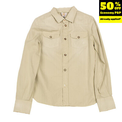 RRP€130 DONDUP DKING Western Style Shirt Size 8Y / 128CM Faded Made in Italy