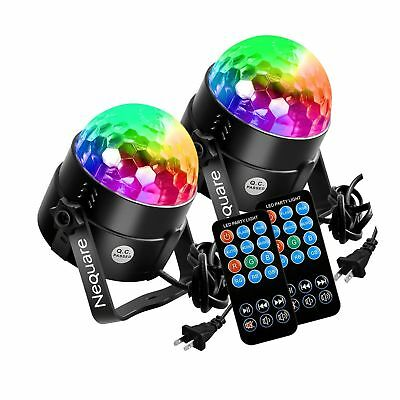 [2-PACK]Nequare Party Lights Sound Activated Disco Ball Strobe Light 7 Lighti...
