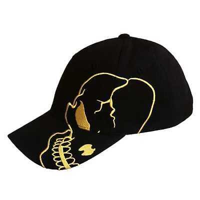 Black Gold Skull Skateboard Biker Skeleton Motorcycle Punisher Baseball Cap Hat (Skeleton Hat)