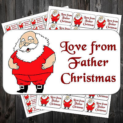 21 Christmas Gift Sticky Labels Stickers Tags Love From Father Christmas #acf ()