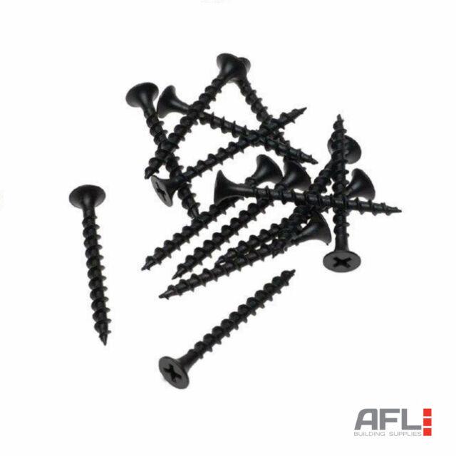 Black Phillips Bugle Head Twin Coarse Thread Drywall Plasterboard Screws