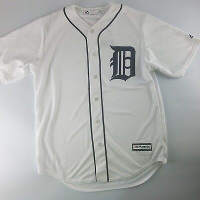 Detroit Tigers MLB Official Majestic Cool Base Home White Jersey Men's (Detroit Tigers White Majestic Jersey)